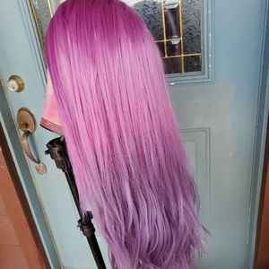 [Custom Dyed] ombre purple 💜 Lace Part Wig